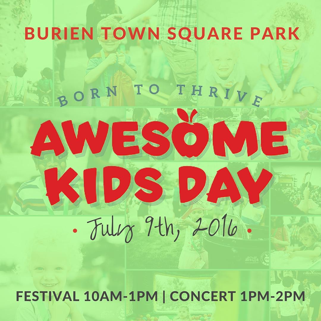 Awesome Kids Day 2016: Born to Thrive | www.burienwellness.com